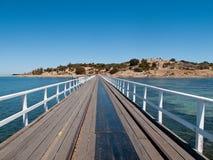 Alter Pier in Granit-Insel und Sieger beherbergen Lizenzfreie Stockfotos