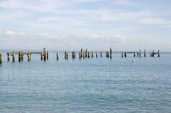 Alter Pier, Swanage, Dorset Lizenzfreie Stockfotos