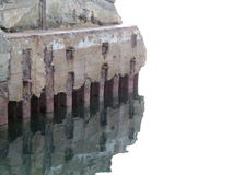 Alter Pier vergessen durch das Meer Lizenzfreie Stockfotos