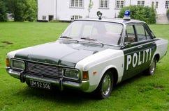 Alter Polizeiwagen Stockfoto