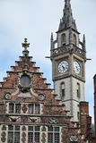 Alter Postturm in Gent, Belgien Lizenzfreie Stockbilder