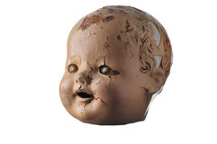 Alter Puppe-Kopf Stockbild