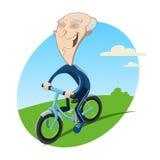 Alter Radfahrer lizenzfreie abbildung
