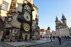 Alter Rathausplatz, Prag Stockbild