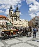 Alter Rathausplatz, Prag Lizenzfreie Stockfotos