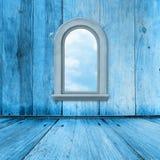 Alter Raum, grunge Innenraum mit Fenster Stockfotografie