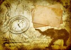 Alter Reisenhintergrund Lizenzfreie Stockfotos