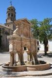 Alter Renaissancebrunnen von Spanien Lizenzfreies Stockfoto