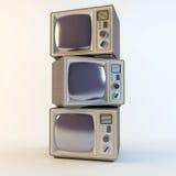 Alter Retro- Fernsehapparat Stockfoto