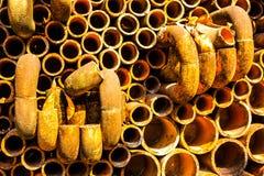 Alter Rohrzusammenfassungs-Designhintergrund Stockbilder