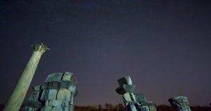 Alter Roman Gate Polaris Timelapse stock video footage