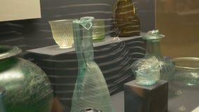 Alter Roman Glass Vases stock footage