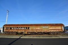 Alter rostiger Bahnwagen Stockbild