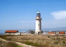 Alter rostiger Leuchtturm Stockfoto