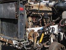 Alter rostiger Lkw-Motor Stockbilder