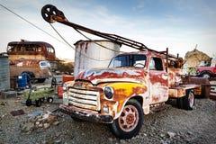 Alter rostiger LKW in Nelson Ghost-Stadt, USA Lizenzfreies Stockbild