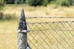 Alter rostiger Zaun Stockbild
