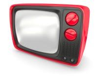 Alter Rot Fernsehapparat Lizenzfreie Stockfotografie