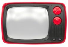 Alter Rot Fernsehapparat Lizenzfreies Stockfoto