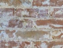 Alter roter Backstein rehabilitierter brickwalll strukturierter Hintergrund stockfotos