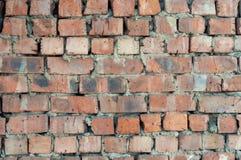 Alter roter Backsteinmauerbeschaffenheitshintergrund Stockbilder