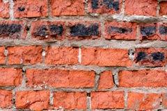 Alter roter Backsteinmauerhintergrund stockfotografie