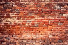 Alter roter Backsteinmauerhintergrund lizenzfreies stockfoto