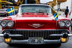 Alter roter klassischer Chevrolet Stockfoto