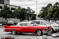 Alter roter klassischer Chevrolet Stockbild