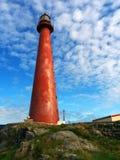 Alter roter Leuchtturm stockbilder