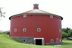 Alter roter runder Vermont-Stall Stockfotografie