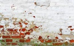 Alter roter weißer Backsteinmauer-Hintergrund Lizenzfreie Stockfotografie