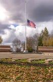 Alter Ruhm, der in den Wind Oregon wellenartig bewegt stockfoto