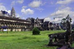 Alter Ruine Angkor Wat Tempel an Kambodscha-Morgen lizenzfreie stockfotos