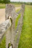 Alter rustikaler Zaun Lizenzfreies Stockfoto