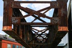 Alter Rusty Steel Girder Lizenzfreies Stockbild