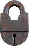 Alter Rusty Vintage Lock Isolated Lizenzfreie Stockbilder