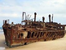 Alter Schiffsrumpf Stockbild