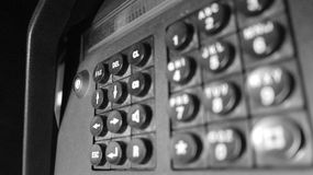 Alter Schlüssel-Fax Phone Stockbild
