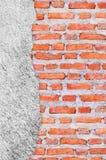 Alter Schmutz-Backsteinmauerhintergrund Lizenzfreie Stockbilder