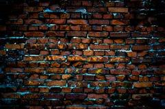 Alter Schmutz-Backsteinmauerhintergrund Stockfotos