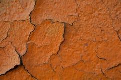 Alter Schmutz malte Wandbeschaffenheitshintergrund mit Kratzern und Sprüngen Stockfoto