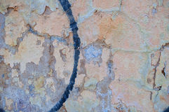 Alter Schmutz malte Wandbeschaffenheitshintergrund mit Kratzern und Sprüngen Stockfotografie