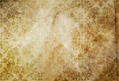 Alter schmutziger Papierhintergrund mit Weinlesemustern Stockbilder