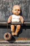 Alter schmutziger Transportwagen stockfoto