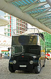 Alter schwarzer Bus Lizenzfreies Stockbild