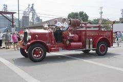 Alter Seymour Fire Department Number 1 LKW-Seitenansicht Lizenzfreie Stockfotografie