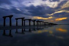 Alter Silay-Hafen (Ruinen) stockfoto