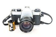 Alter SLR-Kamerafilm Lizenzfreies Stockbild