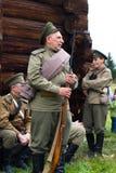 Alter Soldat der russischen Armee der erste Weltkrieg Lizenzfreies Stockfoto